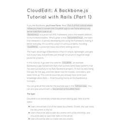 CloudEdit: A Backbone.js Tutorial with Rails (Part 1)