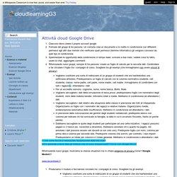 cloudlearningG3 - Esercizi Google Drive