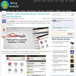 CloudMagic : Add a Powerful Search Tool on Your Android and iPhone