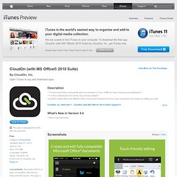 CloudOn for iPad on the iTunes App Store