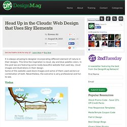 Head Up in the Clouds: Web Design that Uses Sky Elements - Web Design Blog – DesignM.ag