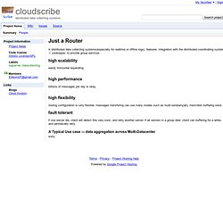 cloudscribe - distributed data collecting systems