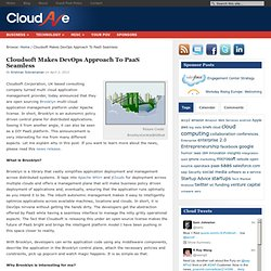 Cloudsoft Makes DevOps Approach To PaaS Seamless