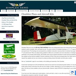 Cloudster Plans and Aircraft Kits – Simplex Aeroplanes