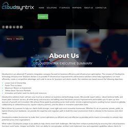 Cloudsyntrix Technology Infrastructure Solutions