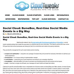 Social Cloud: BumeBox, Real-time Social Media Events in a Big Way