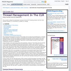 Thread Management In The CLR