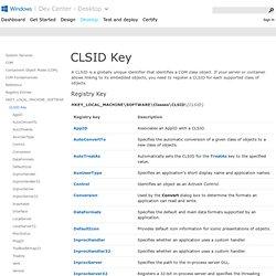 CLSID Key (COM)