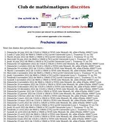 Club de mathématiques discrètes
