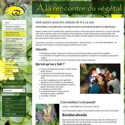 club nature pour les enfants de 6 à 12 ans