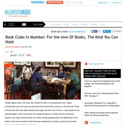 Book Clubs In Mumbai: For the love Of Books, The Kind You Can Hold - MumbaiMag