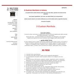 Il Cluetrain Manifesto in italiano