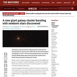 A new giant galaxy cluster bursting with newborn stars discovered