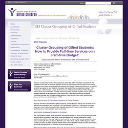 ED Cluster Grouping of Gifted Students