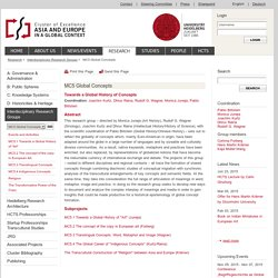 Cluster Asia and Europe - Uni Heidelberg: MC5 Global Concepts