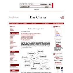 Cluster: die Ordnung im Chaos. Von Rüdger Heins