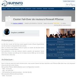 Cluster Fail-Over de routeurs/firewall PfSense