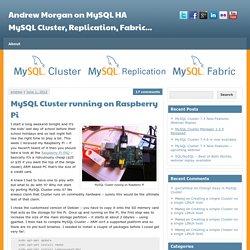 MySQL Cluster running on Raspberry Pi