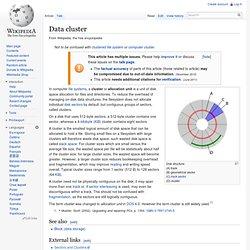 Data cluster