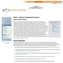 Shoal Java Clustering Framework Overview — Java.net