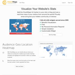 ClustrMaps - Hit counter map widget and tracker shows locations of all visitors to any site - free
