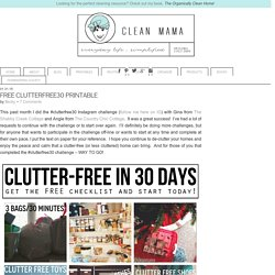 clutterfree30 Archives - Clean Mama