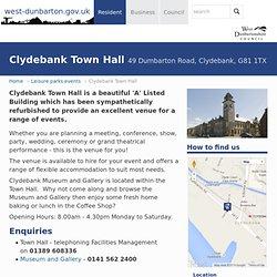 Community Services - Leisure Facilities - West Dunbartonshire