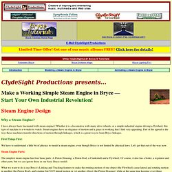 Productions - Bryce Steam Engine Tutorial - Steam Engine Design