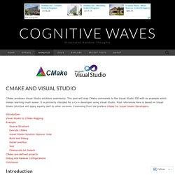 CMake and Visual Studio