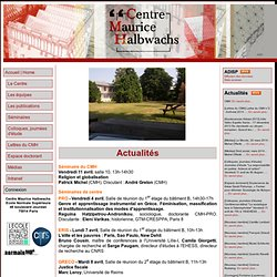 CMH : Centre Maurice Halbwachs