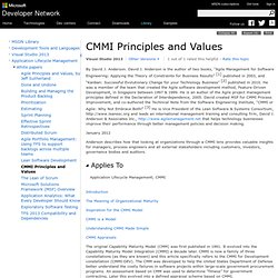 CMMI Principles and Values