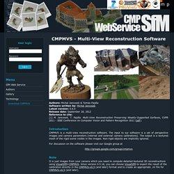 CMP SfM Web Service
