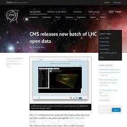 Les données du LHC en open source avec visualiseur dans le navigateur