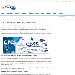 CMS? What is it? Do I really need one?
