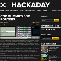 CNC Dummies for Routers