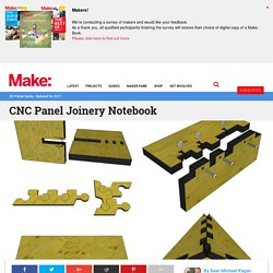 CNC Panel Joinery Notebook