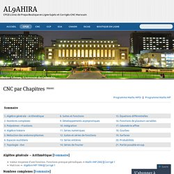 CNC par Chapitres « AL9AHIRA