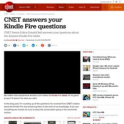 answers your Kindle Fire questions