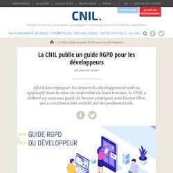 La CNIL publie un guide RGPD pour les développeurs