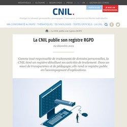La CNIL publie son registre RGPD
