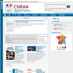 Accueil - CNRAA Centre National de Ressources pour l'Alternance en Apprentissage