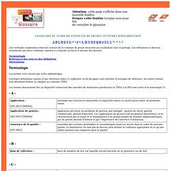 DSI Conduite de projet : glossaire
