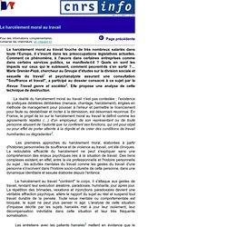 CNRS-Info n393 - Le harcelement moral au travail