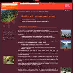 sagascience - Qu'est-ce que la biodiversité?