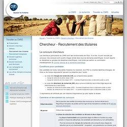 Travailler au CNRS