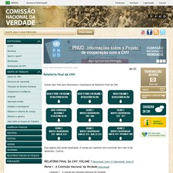 CNV - Comissão Nacional da Verdade - CNV - Comissão Nacional da Verdade