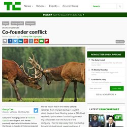Co-founder conflict