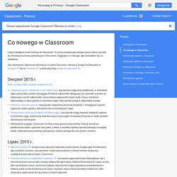 What's new in Classroom - Classroom Help