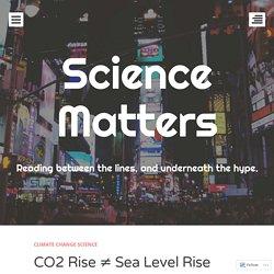 CO2 Rise ≠ Sea Level Rise