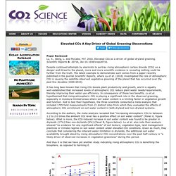 Elevated CO2 A Key Driver of Global Greening Observations